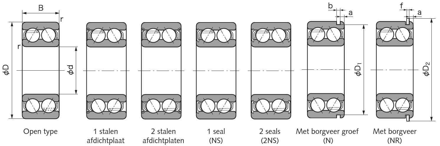 Dubbelrijige hoekcontactlagers